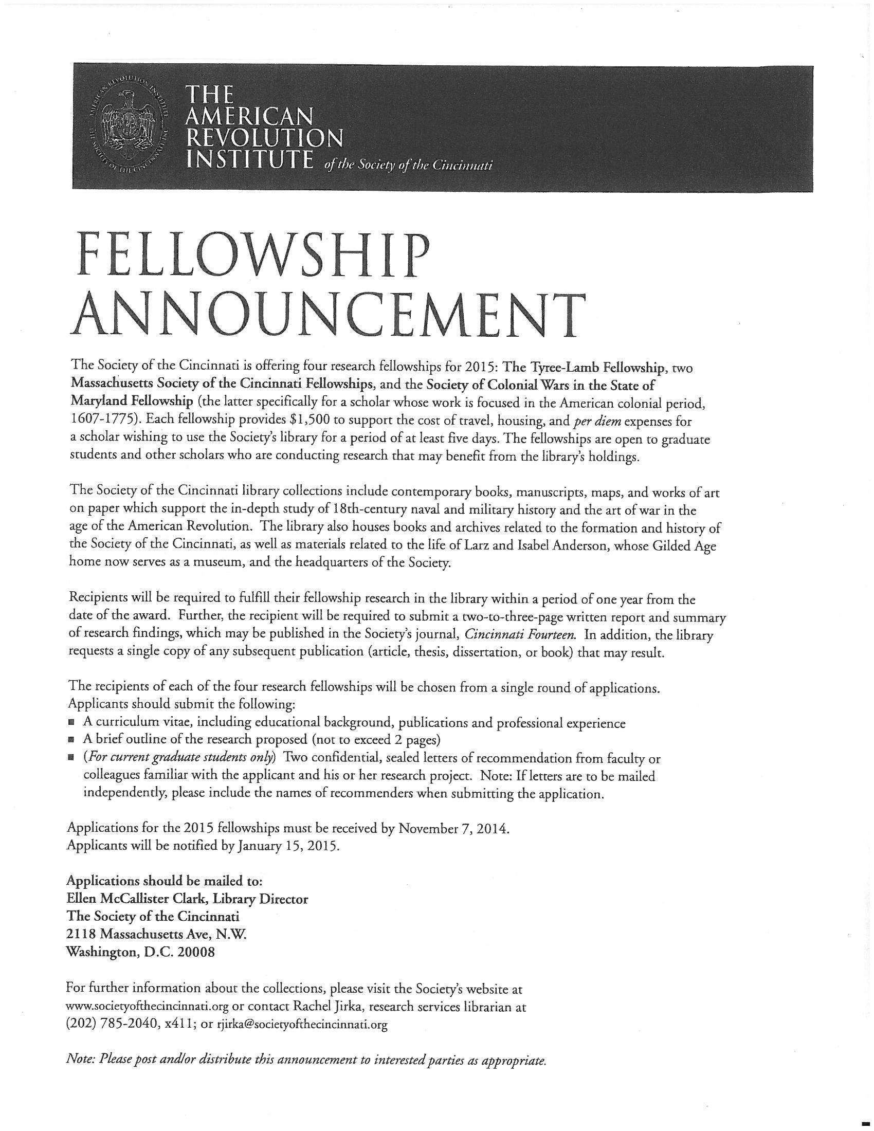 ford dissertation fellowship announcement From transforming conditions for low-wage workers to identifying internet  security vulnerabilities, from celebrating the african american string band  tradition to.
